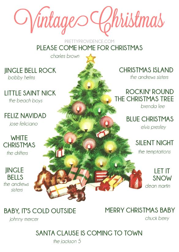 Christmas playlist full of oldies! The Temptations, Elvis, The Andrews Sisters and more. Listen for FREE at prettyprovidence.com.