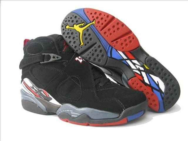 Womens Air Jordan 8 Retro Black Red Shoes