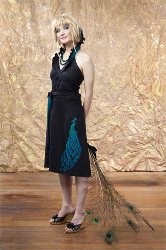 Indian Blue Halter Neck Dress