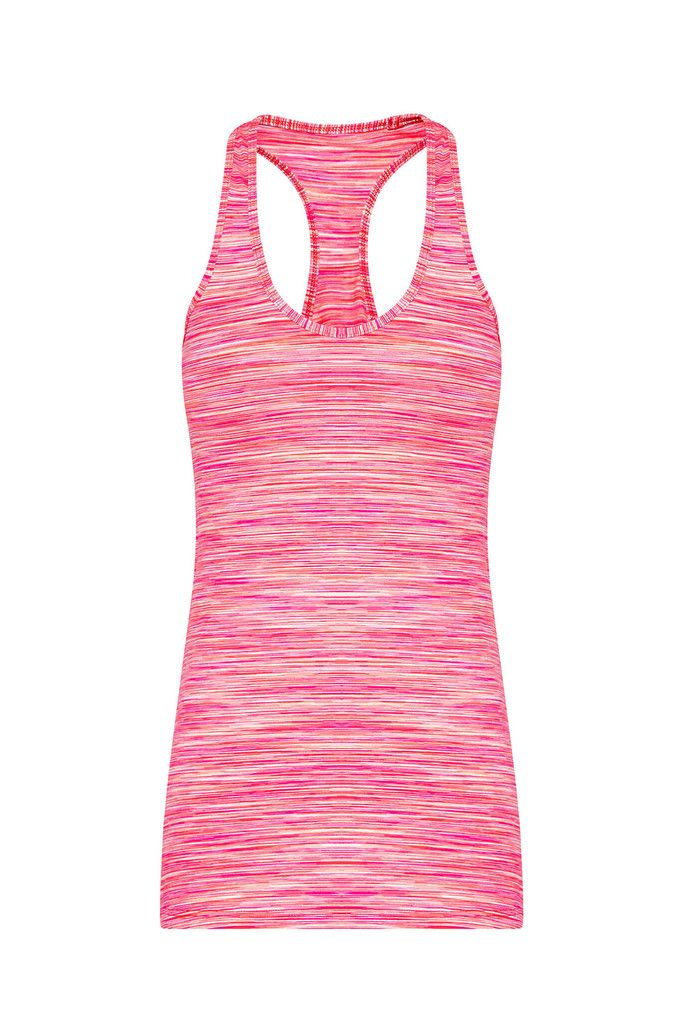 Racer Back Sports Tank - Flamingo Pink – Dharma Bums Yoga and Activewear