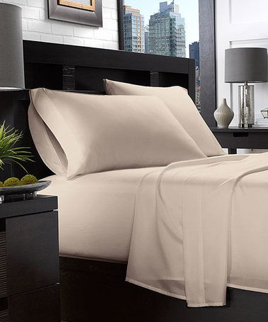 Loving this Taupe Essential Living Sheet Set on #zulily! #zulilyfinds