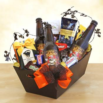 Haunting Halloween Basket. See more at www.pro-gift-baskets.com!