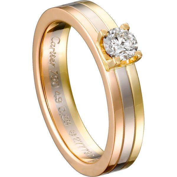 スリーゴールド ソリテール リング - Cartier(カルティエ)の婚約指輪 ...