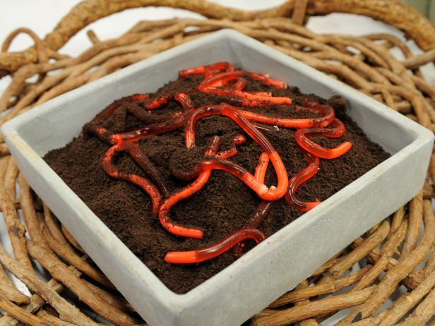 Jelly Worms in Dirt