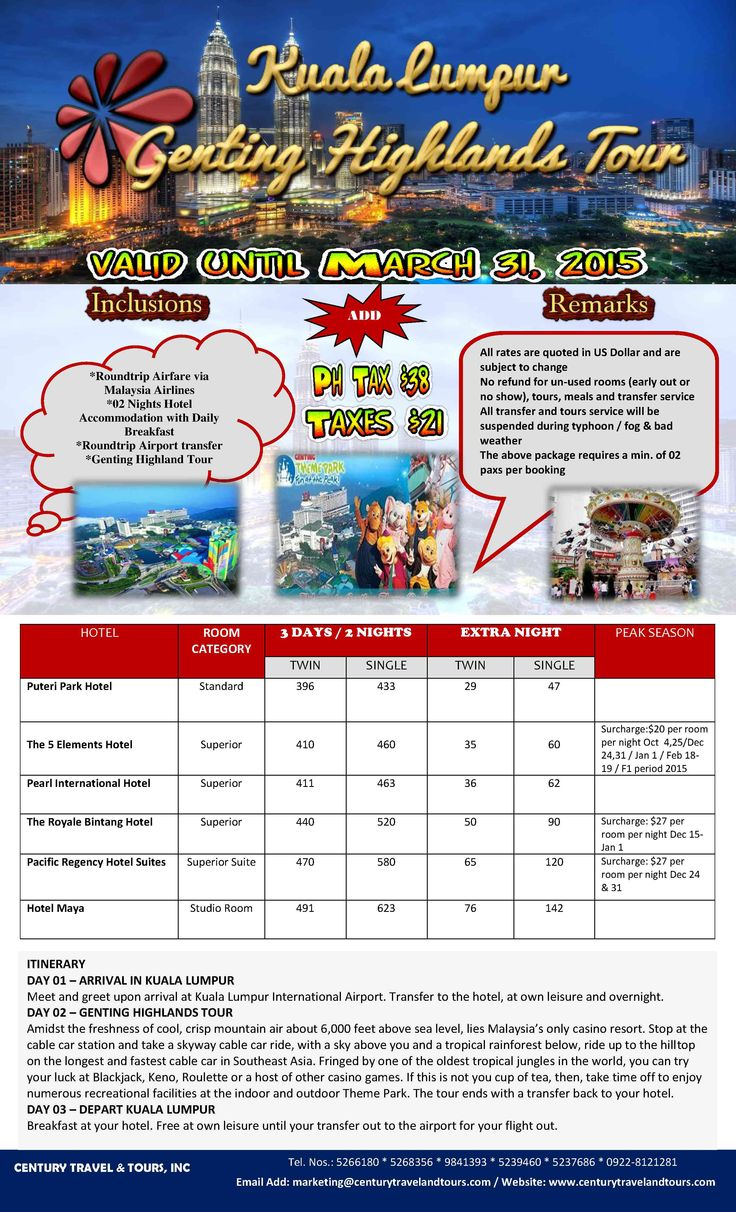 Kuala with Genting Highlands Tour