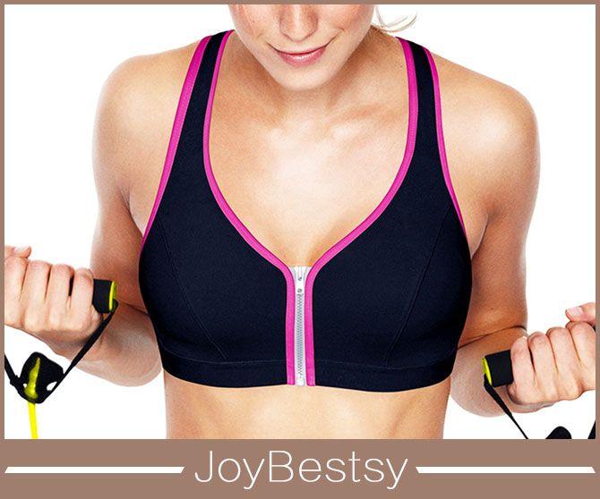 Shock absorber U plunge wireless zip front sports bras - Fabricante do Shaper do corpo, shapers de treinamento, mens underwear, fábrica de maiôs da china
