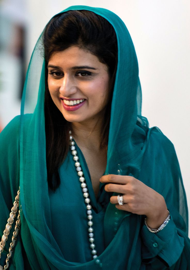 Hina Rabbani Khar (Urdu: حناربانی کھر; born 19 November 1977) is a Pakistani stateswoman and economist who was the 26th Foreign Minister of Pakistan. Hailing from a powerful feudal family, she began her political career in 2002 in the government of Prime Minister Shaukat Aziz and subsequently served in the Finance Ministry and Foreign Ministry as Minister of State.