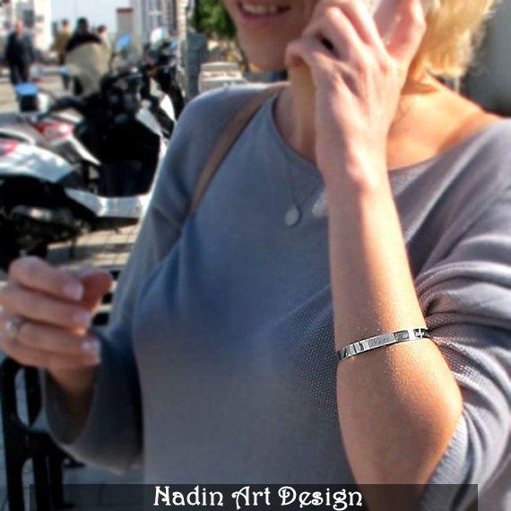 Sterling Silber Armband mit Geheimnis Gravur  von NadinArtDesign auf DaWanda.com