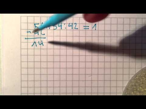 Mathematik aufgaben: Schriftlich Dividieren - YouTube