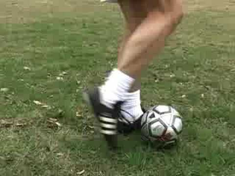 Soccer Drills - How to teach soccer players to Kick and Shoot the ball. This video shows players U4 and U6 (age 3, 4, 5 and 6) but the teaching methods work for all ages. Shows a 3 year old shooting with both feet. Visit www.SoccerHelp.com/kick-shoot-soccer-ball.shtml  for detailed instructions and a Checklist on SoccerHelp.com
