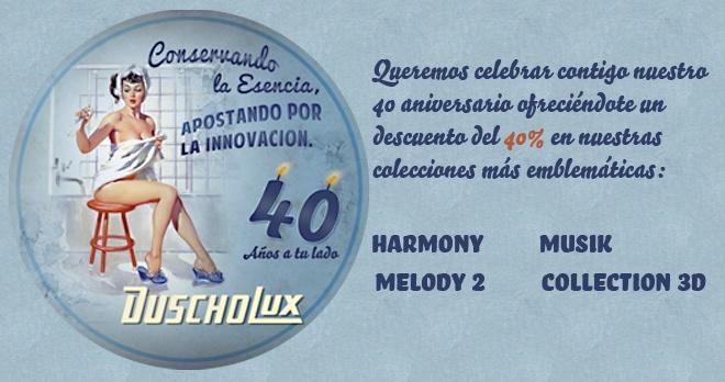 #mampares #DUSCHOLUX celebra l'aniversari @ferresceramica amb un 40% en 4 col·leccions a mida. La reforma del teu bany més econòmica i amb garantia de recanvis fins 10 anys després de la compra.  http://www.ferresceramica.com/noticies.php?lan=cat