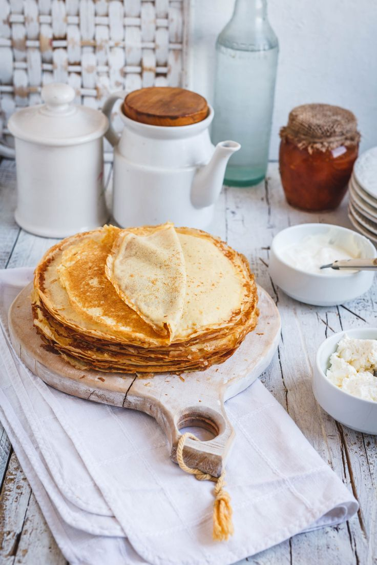 Alpine Punch Tea-infused Crepes