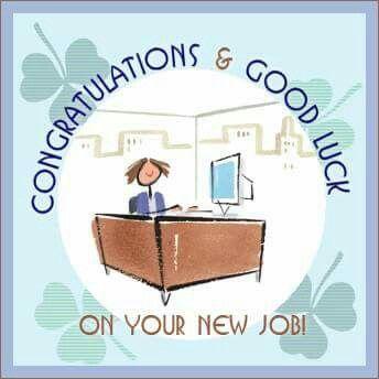 Congrats on new job