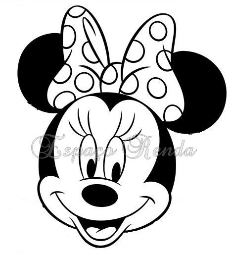 Minnie mouse cara buscar con google patrones for Minnie mouse bowtique coloring pages