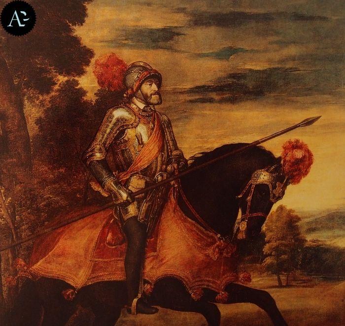 Tiziano Vecellio | Ritratto di Carlo V a cavallo