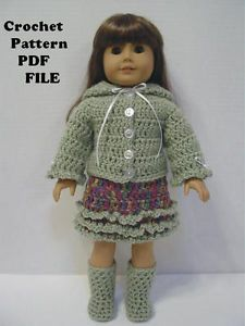 Free Crochet Pattern Doll Jacket : 263 best images about American Girl Crochet and Knit ...