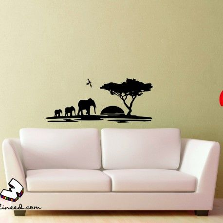African Landscape Wall Decal