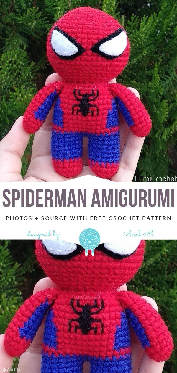 Spiderman Crochet Pattern - Amigurumi Doll Tutorial - Crochet News | 1260x600