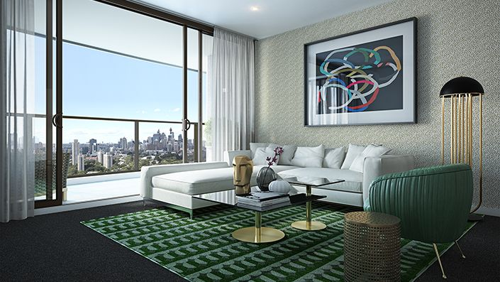 Elegantly appointed interiors capture all the comforts of modern apartment living in chic, contemporary style complemented by European appliances, quality finishes and designer fittings and fixtures.