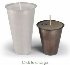 Small Tin Inserts for Sugar Mold Candle Holders