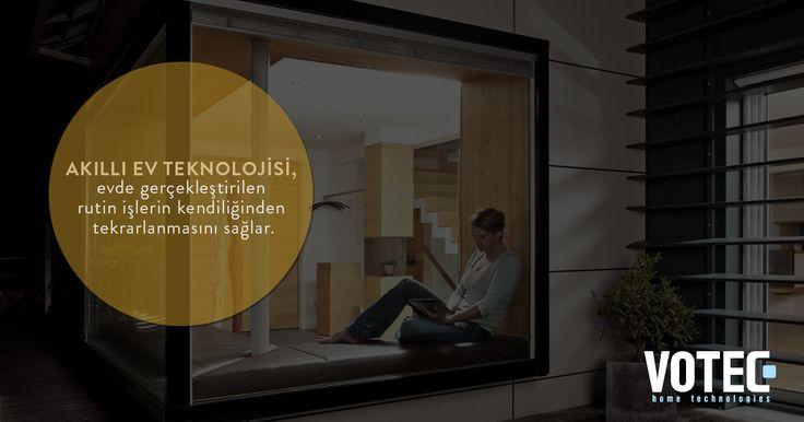 Akıllı Ev Teknolojisi, evde gerçekleştirilen rutin işlerin kendiliğinden tekrarlanmasını sağlar.
