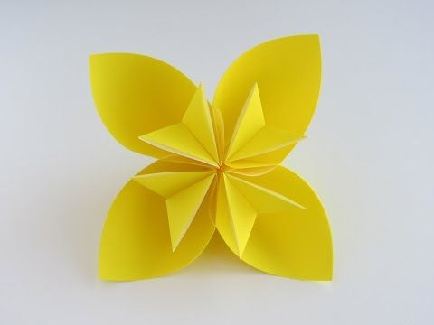 Easy Origami Kusudama Flower and other origami figures folding Instructions