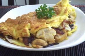 mushroom_asiago_omelette | Eat better | Pinterest
