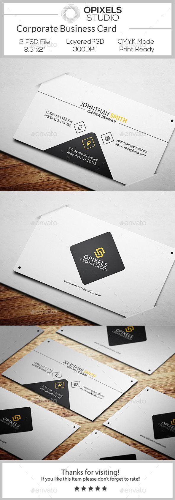 Corporate Business Card Template PSD