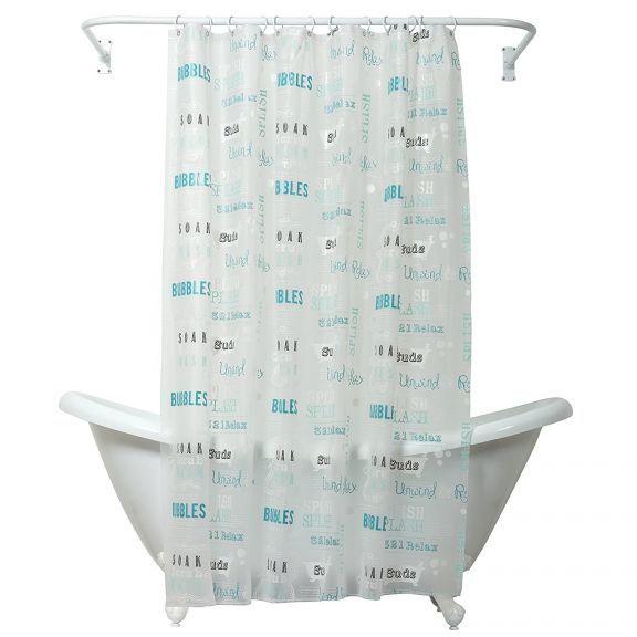 Splish Splash Bubble Bath Peva Vinyl Shower Curtain Vinyl Shower