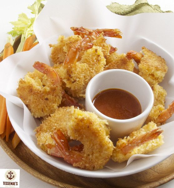 These shrimp are sooooo good! The Buffalo Seafood Marinade gives them a great pop of flavor and the coconut adds a nice sweet crunch. They happen to be gluten free and Whole 30 compliant too! What's not to like?