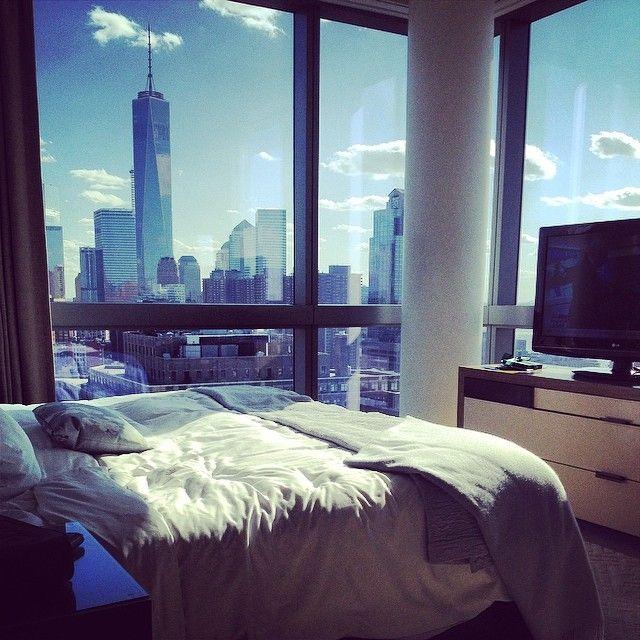 Beautiful bedroom views from Trump SoHo | Instagram