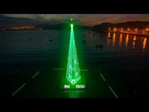 Árvore de Natal flutuante - Floating Christmas tree - São Martinho do Porto - 4K…