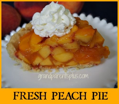 Fresh Peach Pie--with trick for easily peeling peaches