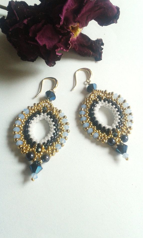 BEADED EARRINGS ISTAMBUL by ElianaManieroJewels on Etsy, €32.00