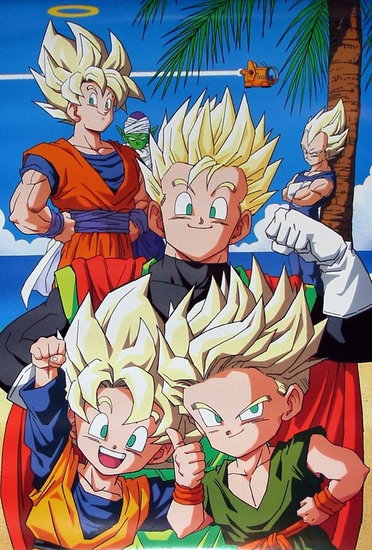 Trunks and Goten looks so cute