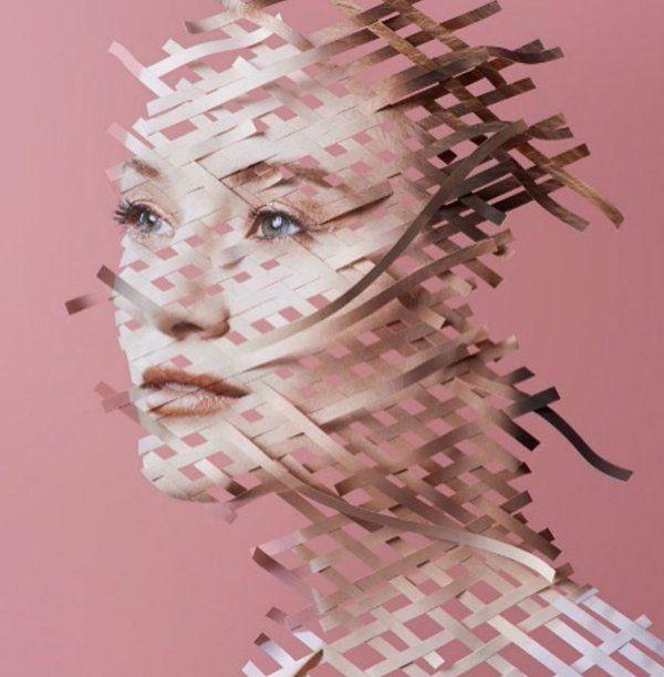 Paper Weaving art - by Hugh Kretschmer. #paperweaving