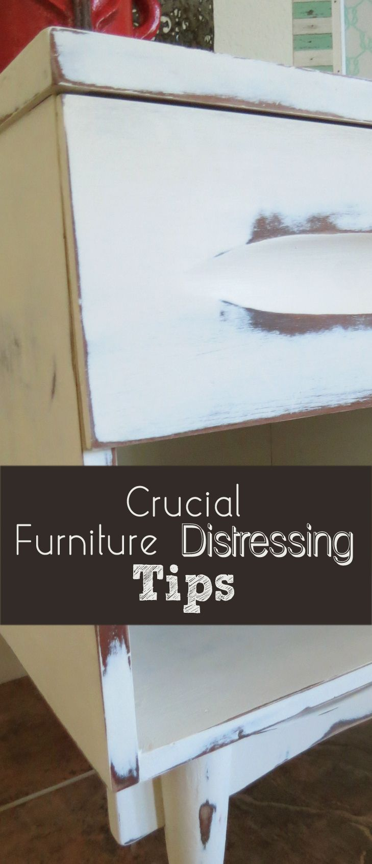 There are a few things you can do that will really help your furniture distressing job look right. Here are some of the ways it can go wrong and how to improve the finished look. 1. The Wood Showing Through Should Be Dark  Ive tried painting and distressing over
