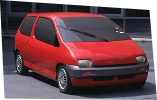 OG   1992 Renault Twingo Mk1 - Projects W60 / X06   Full-size clay model designed by Jean-Pierre Ploué dated 1986