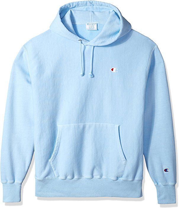 ccbb1aa4 Amazon.com: Champion LIFE Men's Reverse Weave Pullover Hoodie, Upstate Blue  Pigment Dyed, L: Clothing