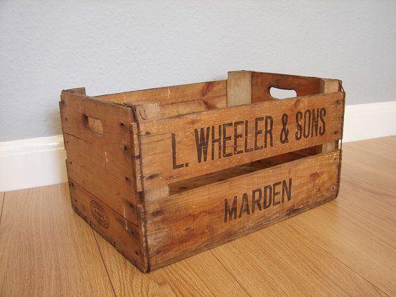 45 best old apple crates images on pinterest apple for Uses for old wooden crates