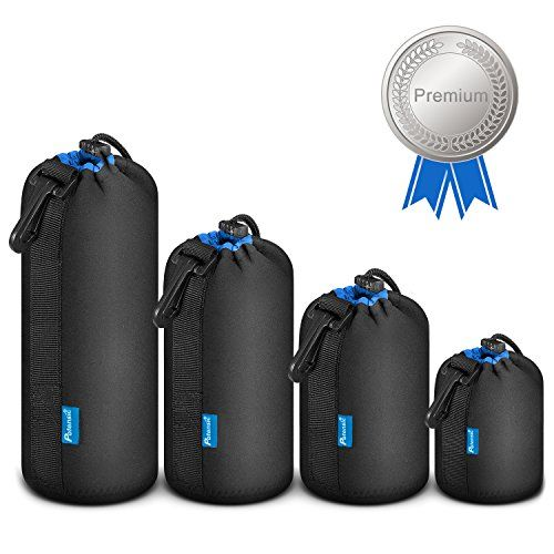 Lens Pouch Potensic 4Pack Protective Waterproof Lens Neoprene Pouch Set for DSLR Camera LensCanon Nikon Pentax Sony Olympus Panasonic *** See this great product.