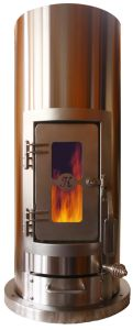 The Kimberly Wood Stove™ is portable, EPA Certified, CSA Certified and UL- listed.  Heats up to 1500 sf and it is beautiful!
