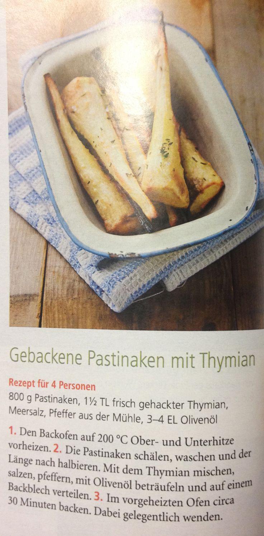 Fabulous Gebackene Pastinaken mit Thymian aus der Zeitschrift Mein sch ner Garten schmackooooofatz mein absolutes Lieblingsrezept