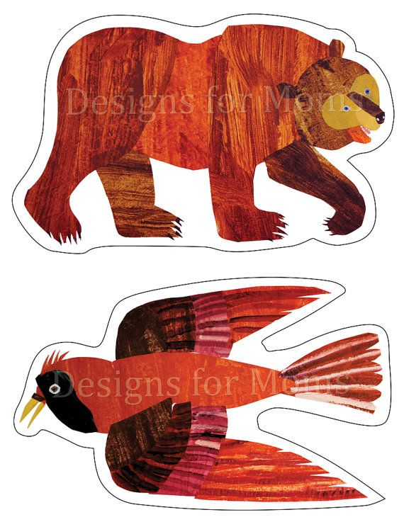 PRINTABLE Brown Bear wall decorations