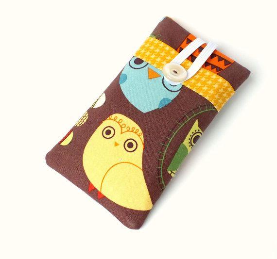 iPhone 5 Sleeve Retro Owl iPhone Case POCKET by VintageFabricFinds, $14.50