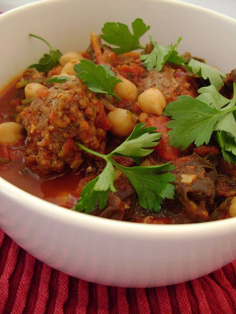 Chick Pea , Kale and Spicy Lamb Meatball Stew by Girl Interrupted ...