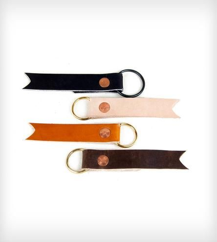 Leather and Copper Key Fob | Women's Bags & Accessories | 1.61 Soft Goods | Scoutmob Shoppe | Product Detail