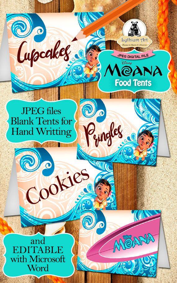 moana decor kit moana labels moana toppers moana por lythiumart