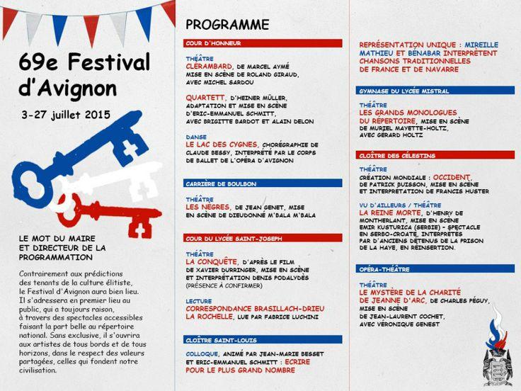 le programme du 69ème festival d'Avignon dans les petits papiers du #FN....