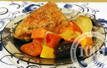 Как приготовить куриные бедрышки с овощами в духовке